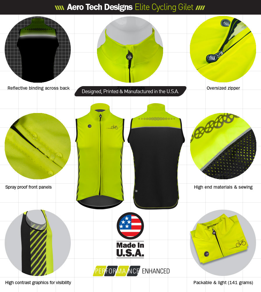 Elite Cycling Gilet Features