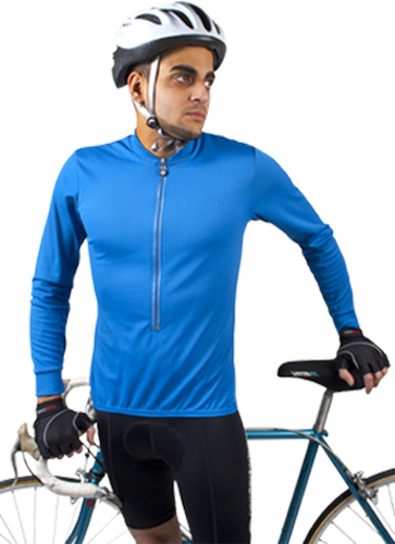big man's long sleeve cycle jersey