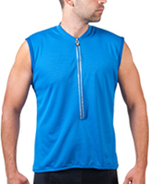 royal blue sleeveless bike jersey