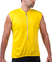 yellow sleeveless bike jersey