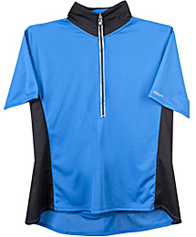 plus women's royal blue cycling jersey