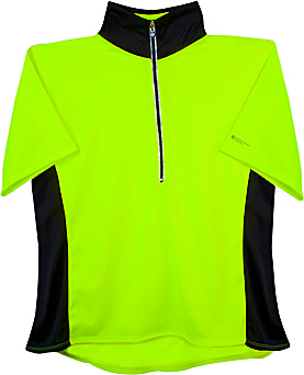 plus women's neon yellow visibility jersey