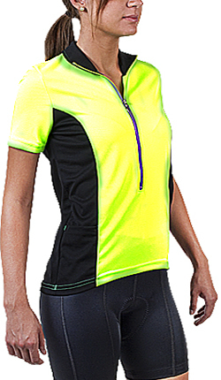 yellow high visibility bike jersey
