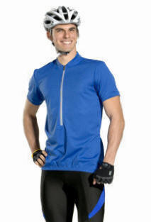 Tall Royal blue Cycling Jersey