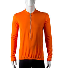 orange long sleeve bike top
