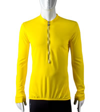 yellow extra long sleeve bike jersey
