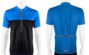 blue Men's Shadow Cycling Jersey