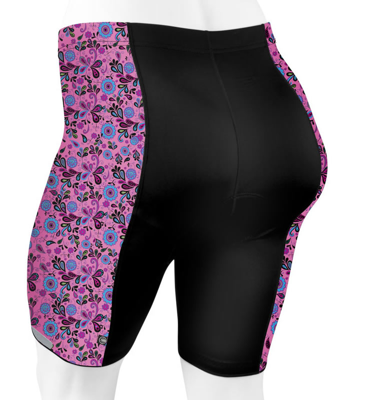 plus size pink paisley back view