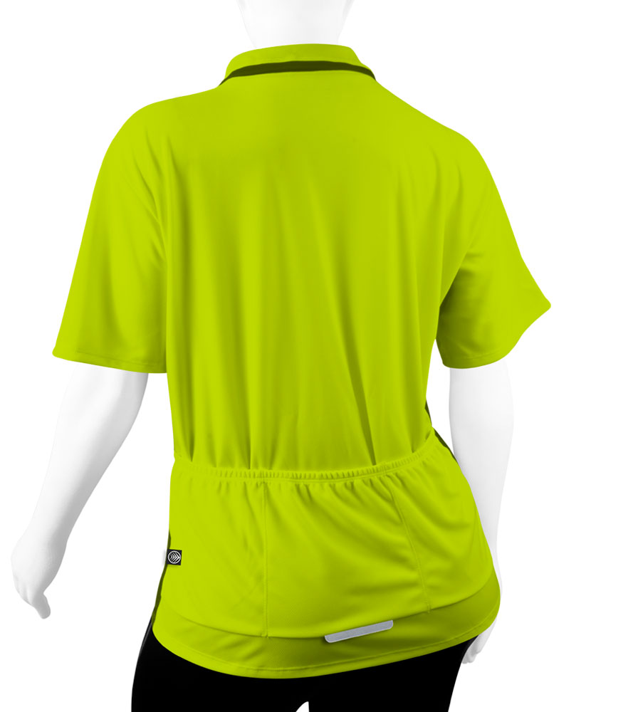 back view of pockets - safety yellow