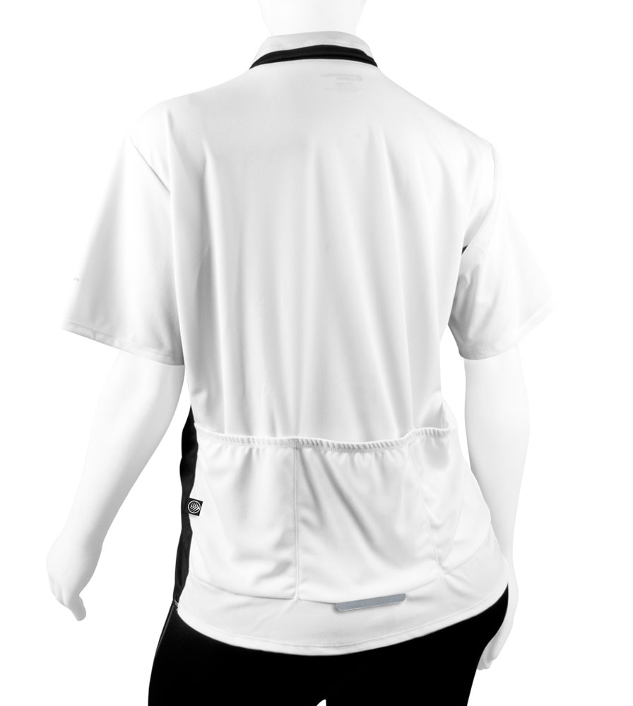 back view of pockets - white and black
