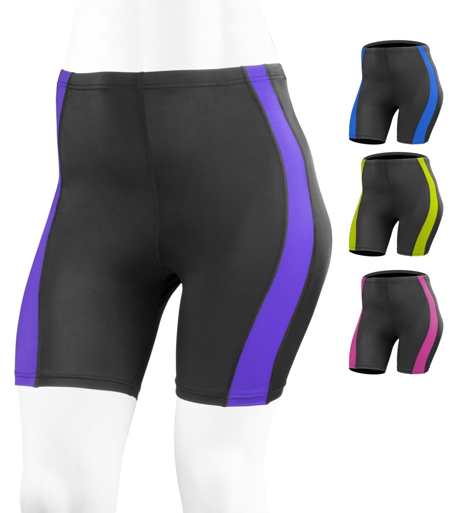 plus women's padded bike shorts lots of color