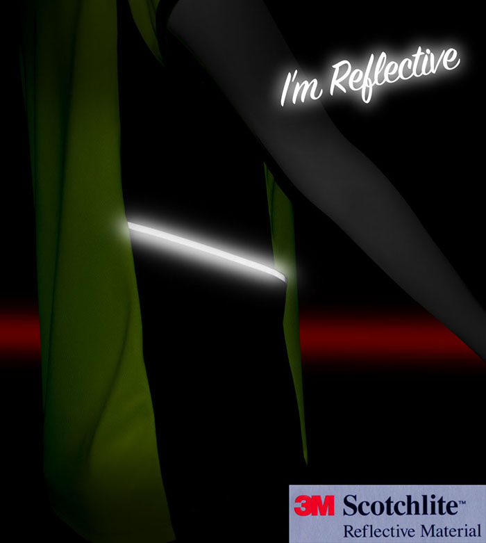 3M Scotchlite reflective trim for safety