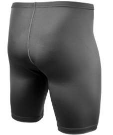 back view of unpadded spandex skin shorts