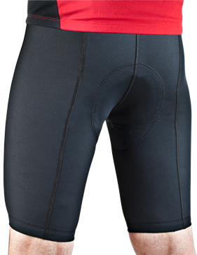 men's century thick padded bike short