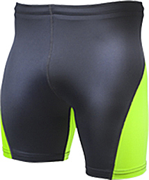 Bright Green/Black compression shorts