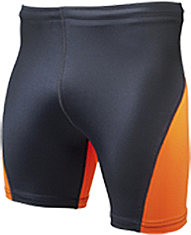 Bright Orange/Black high performance short