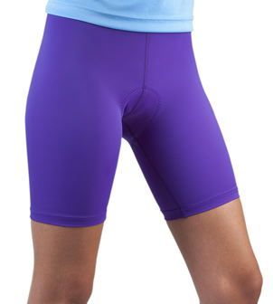 purple padded biking short