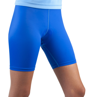royal blue classic padded bike short