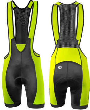 safety yellow bibshorts
