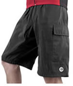 baggy bike bicycling shorts for all terrain and mountain bikers MTB ATB with padded chamois liner short