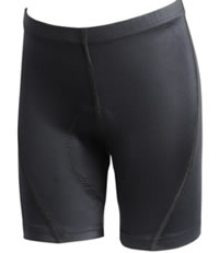 bicycle shorts with blue trim