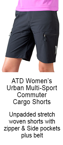 urban commuter shorts styled with webbed belt technical features and neat appearance in durable woven stretchy fabric zipper pockets hand pockets belt and reflectives