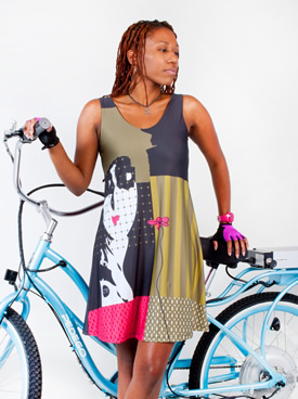 front view of cycling dress