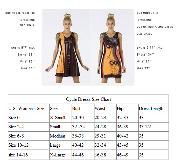 size chart for cycling dress
