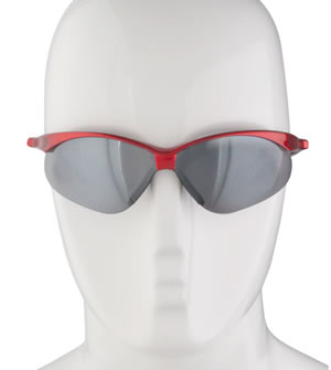 Red smoke lense sunglasses