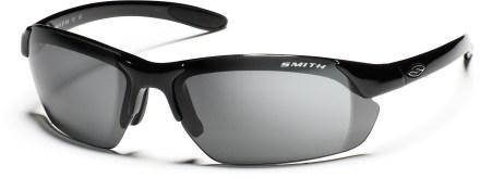 smith optics paralelle max d polarized sunglasses with interchange able lenses gray and black