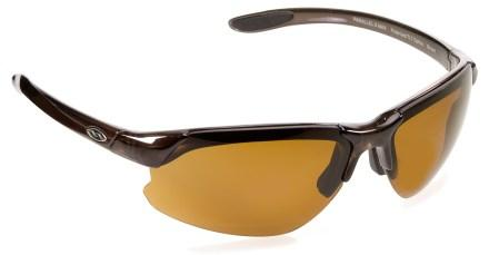 smith optics paralelle max d polarized sunglasses with interchange able lenses brown and brown
