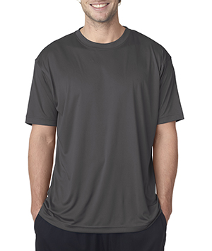 Big Man's Classic T-Shirt is a wicking Polyester Stays Cool and Dry black