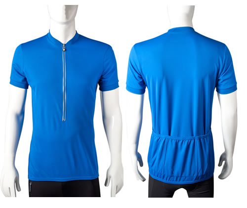 tall cycling jersey in blue