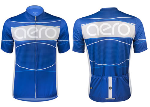 Tall Aero cycling Jersey in Royal Blue