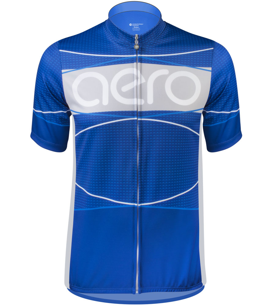 blue tall man's cycling jersey