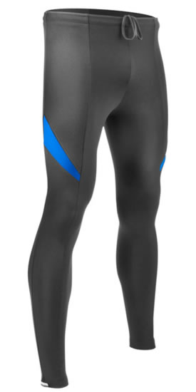 aero tech designs men's blue supplex tights