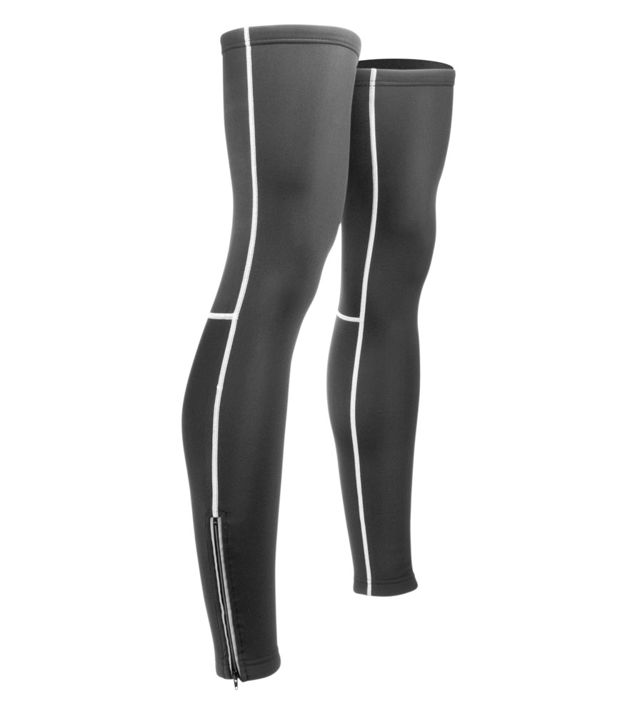 fleece tights with reflective zippers