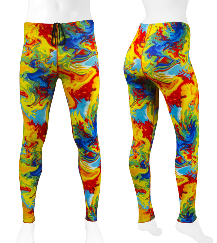 Yellow Tie Die Spandex Tights | Great for all activities