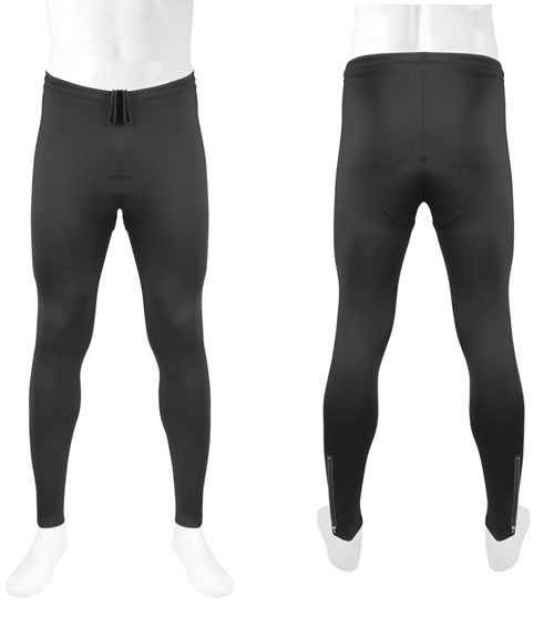 mens stretch fleece cycling tight
