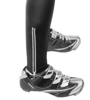 ankle zippers with reflectives