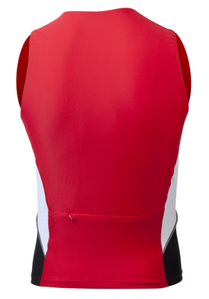 back view of racing singlet