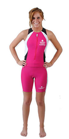 swim bike run in this competition swim suit