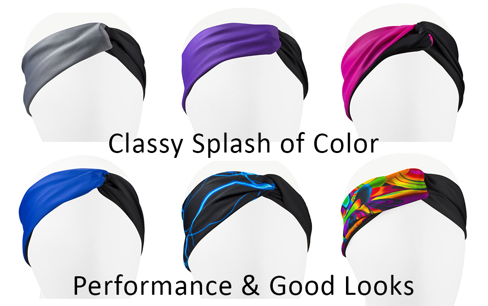 womens twiste knot style headband wrap colors and prints