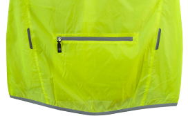 back view of pocket with reflective tabs