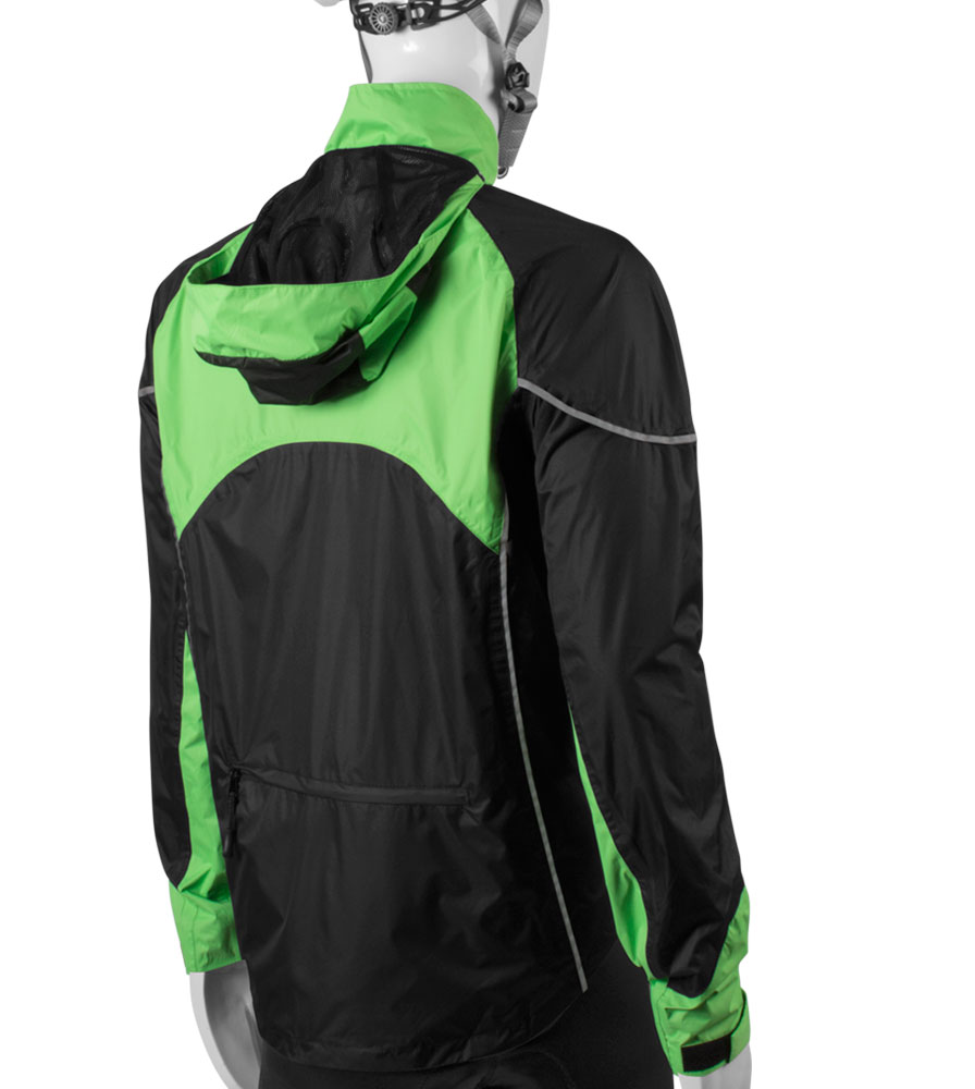 cycling rain coat in green